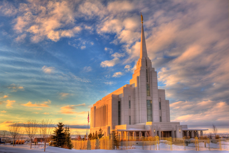 The Rexburg Idaho LDS Temple
