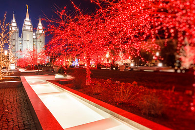 LDS Temple and river of light