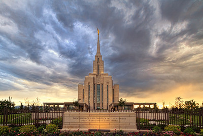 Mormon Oquirrh Mountain Temple