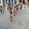 These kids were being taught on how to count from one to ten