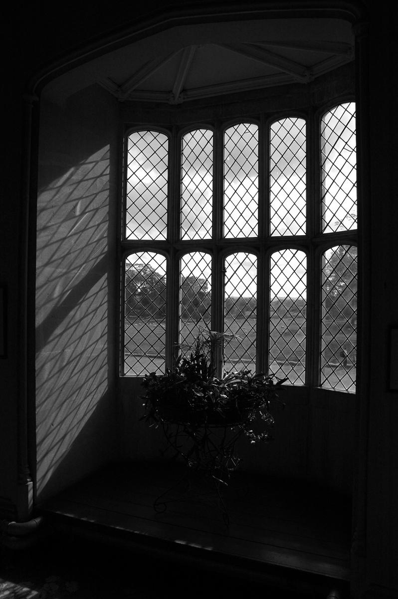 The Oriel Window, South Gallery, Lacock Abbey, Wiltshire.