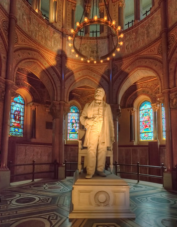 James A  Garfield Statue