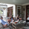 Geoff and Loren Lamb at home with daughters Alex and Sydney in Hope Valley, Durham.