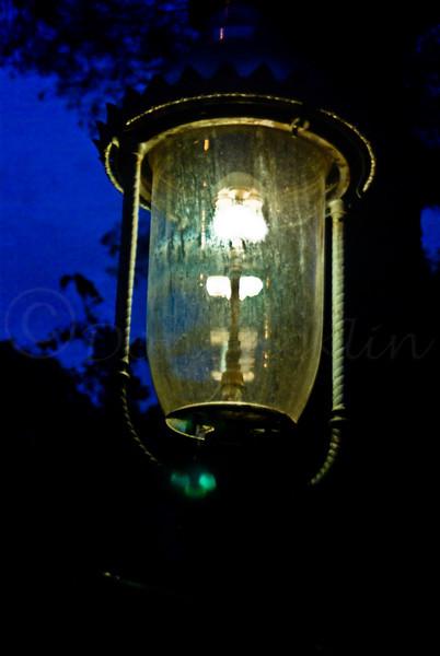 Gaslight street light.
