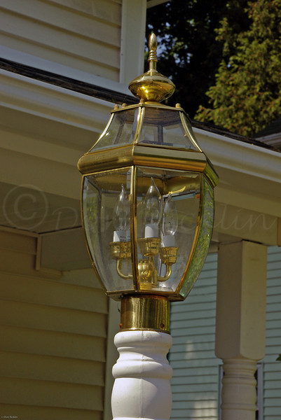 Lantern outside home, Hammond Heights, Worcester, MA