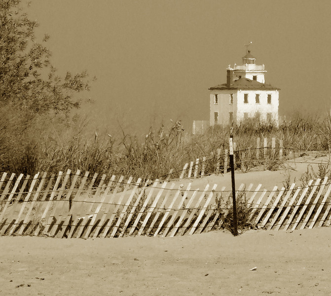 Sand dunes & Lighthouse -- Fairport Harbor, Ohio