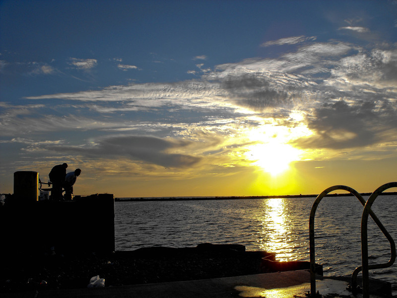 Sunset - Lake Erie -- Lorain Harbor