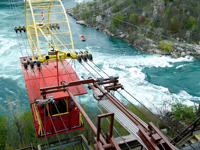 Cable Car over -- The Whirpool --  Downstream from Niagra Falls -- Canada
