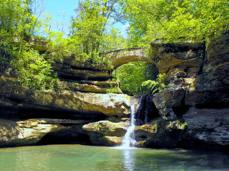 Upper Falls -- Old Mans Cave -- Hocking Hills Ohio