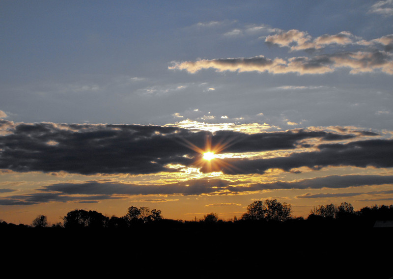 October Sunset -- Somewhere near Circleville, Ohio