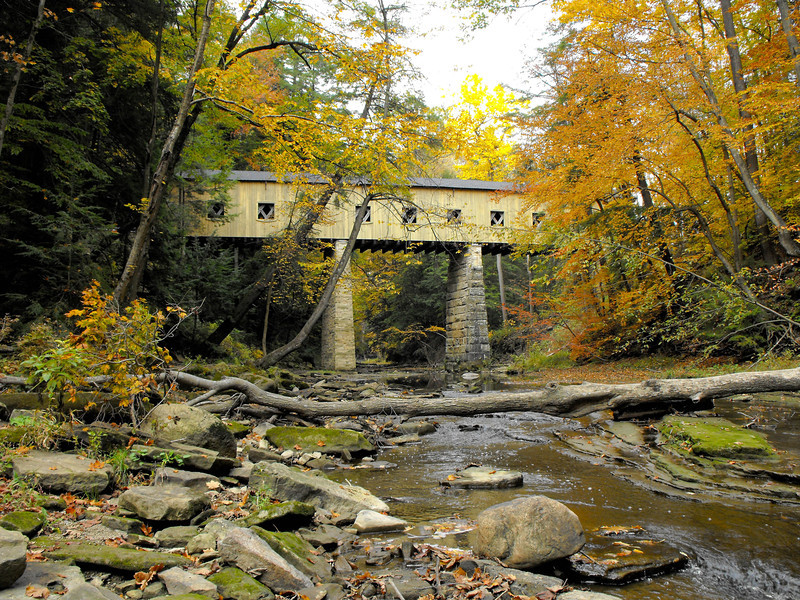 Covered Bridge -- Madison Mills - Oh