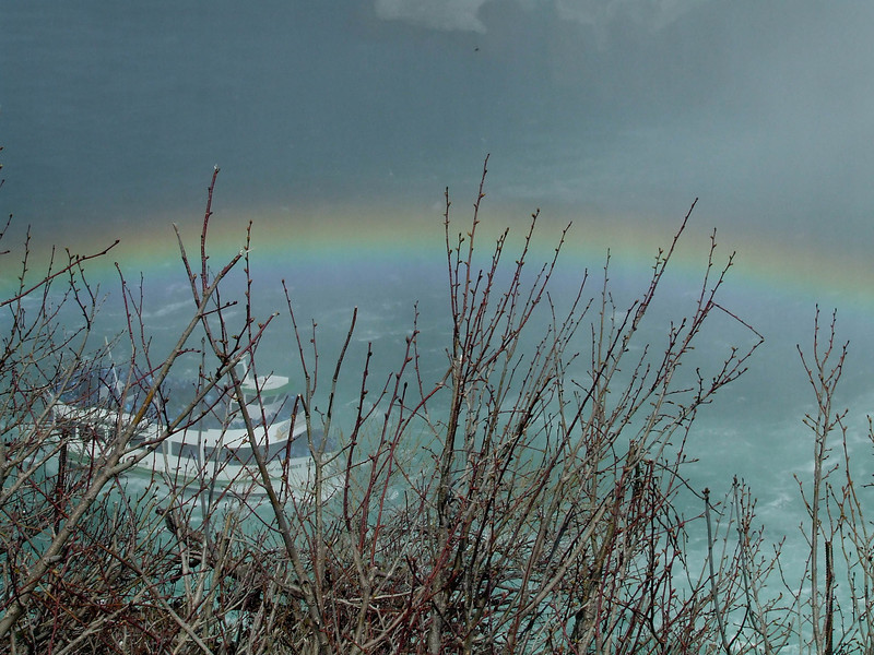 Rainbow over Maid of the Mist -- Niagra Falls, Canada