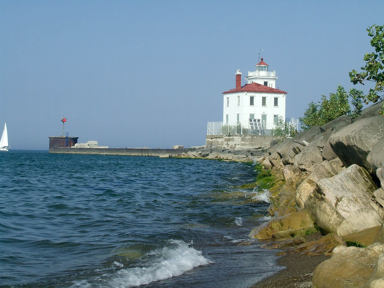 Fairport Harbor Lighthouse -- Lake, Erie --Oh