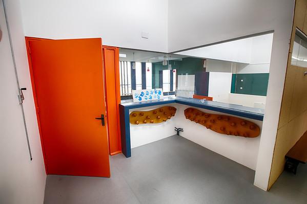Top floor school at La Unité d'Habitation residential block, Firminy.