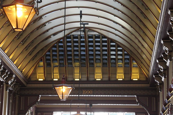Leadenhall Market<br /> Detail over the western entrance<br /> 11 April 2015