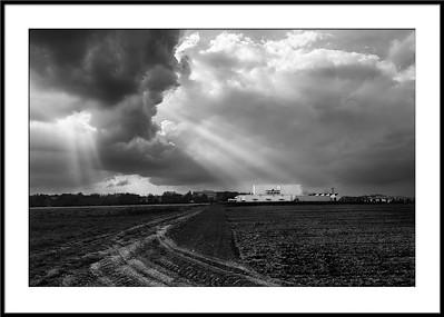 Gewitterwolken über Leinfelden-Echterdingen