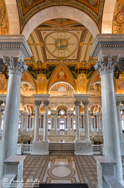 Main lobby, upstairs, Libray of Congress