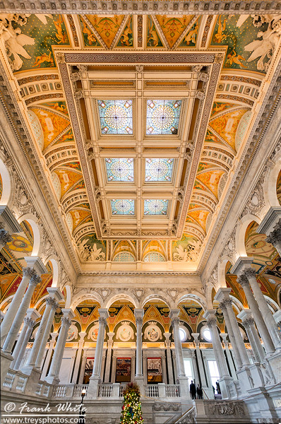 Main lobby ceiling, Libray of Congress