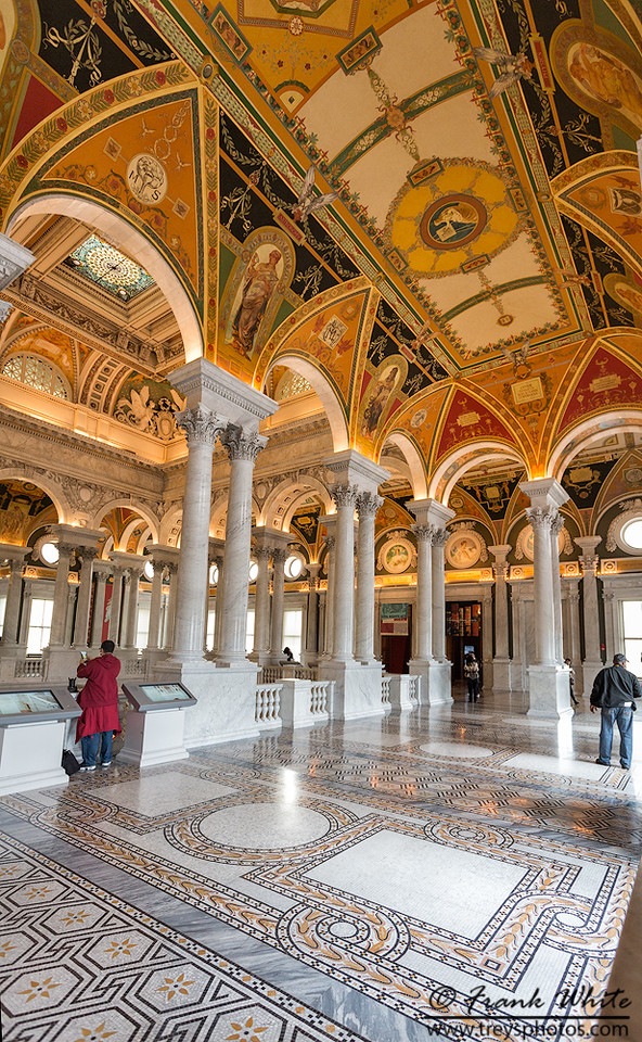 Upstair lobby, Library of Congress #1
