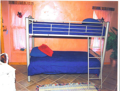 Bunk beds in second bedroom.