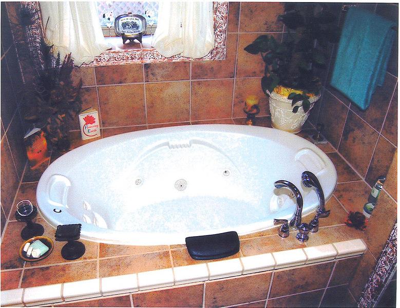 Wirlpool tub off main bed room.