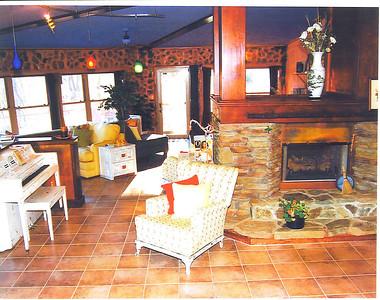 The Great Room. Gas log fireplace. Radiant slab heat. Wonderful views.