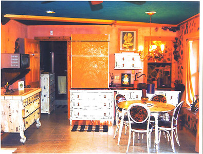 Lower level efficiency apt. kitchen area.