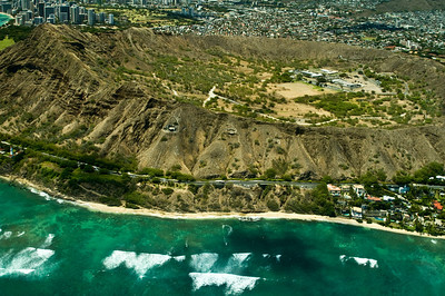 Aerial of the Diamond Head area  South Oahu, Hawaii  050818.015759
