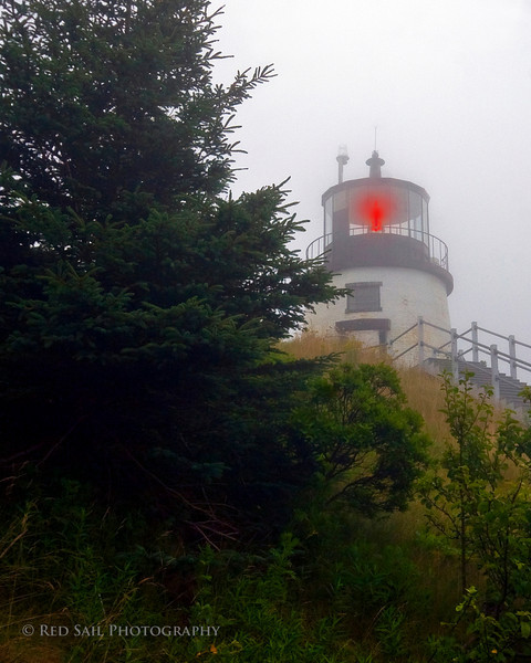Owls Head Light. This is on the eastern most point of the Rockland harbor. The fog is always thick when I visit this area.