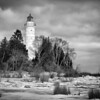 Cana Island In Winter - Black and White