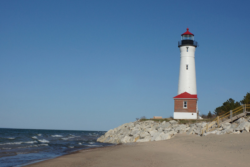 Crisp Point Lighthouse<br /> Lake Superior<br /> Michigan