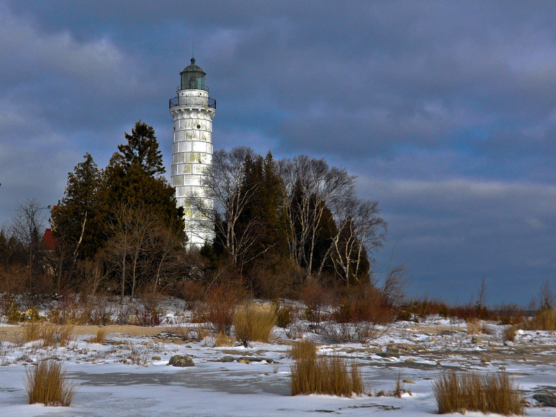 Cana Island Lighthouse In Winter