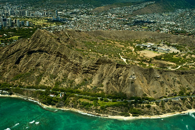 Aerial of the Diamond Head area  South Oahu, Hawaii  050818.015748