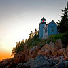 Bass Harbor Light. Evening shot. This lighthouse is located on the southern tip of Mt. Desert Island, Maine. Ship Harbor Nature Trail is just north of this location and is a must see.