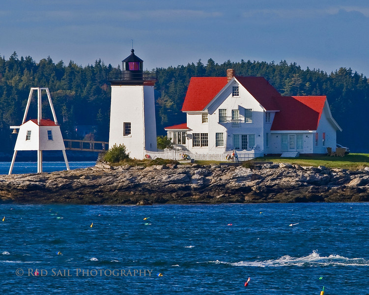 Hendrick's Head Light. This is located in Sheepscot Bay on Southport Island near Boothbay Harbor, Maine.