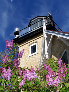 Lilac time at Eagle Lighthouse, Peninsula State Park