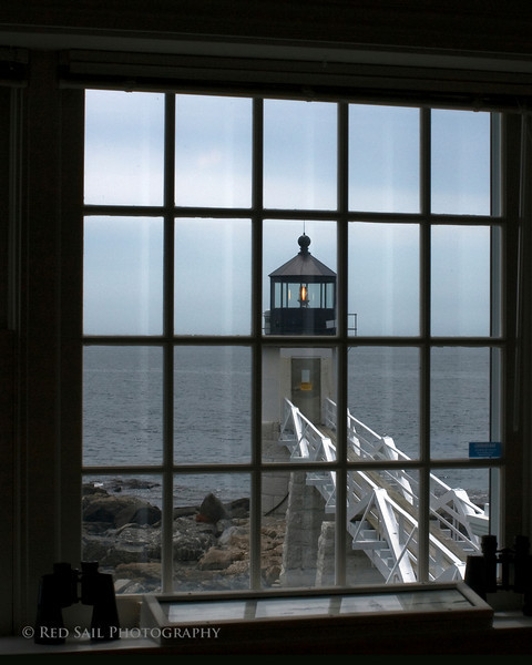 Marshall Point Light from inside the keepers house.