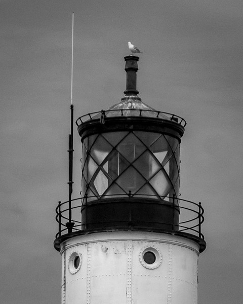 The Lookout - Sturgeon Bay Coast Guard Light. Black and White