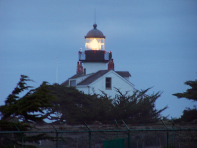 Point Pinos is the oldest continuously operating lighthouse on the West Coast, located in the town of Pacific Grove at the tip of the Monterey Peninsula. The light is a third order Fresnel with lenses, prisms and mechanism manufactured in France in 1853.