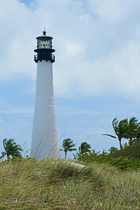 Cape Florida Lighthose ~ This historic lighthouse from 1884 is in Bill Baggs State Park on Key Biscayne south of Miami.  It has a stately look surrounded by gardens and dunes.