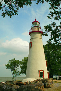 Marblehead Lighthouse ~ This lighthouse is on the edge of Lake Eirie, at Marblehead, Ohio.