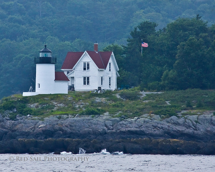 Curtis Island Light. Located off the coast from Camden, Maine in the West Penobscot Bay can only be viewed by boat. Built in 1896, this lighthouse stand 25 ft. high.
