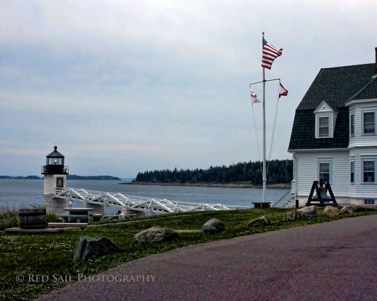 Marshall Point Light. Image modified with Topaz filters.