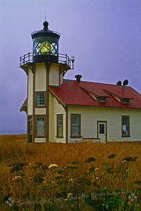 Point Cabrillo Lighthouse, Mendocino Coast ~ This victorian lighthouse is located a few miles north of the Village of Mendocino, on the northern California coast.  It was built in 1909 and remains active.