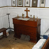 A tiny organ situated in a corner of the church. A display of historical people from the local area was shown to us.
