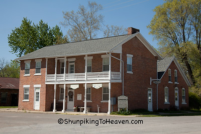 Aunty Green Hotel, Built 1844, Bonaparte, Iowa