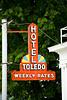 Hotel Toledo Sign, Toledo, Iowa
