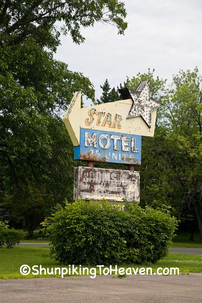 Vintage Motel Sign, St. Louis County, Minnesota