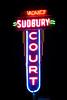 Sudbury Court Motel Sign, Iowa County, Iowa