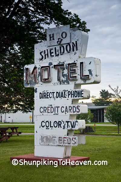 Vintage Motel Sign, O'Brien County, Iowa
